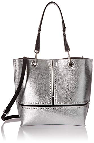 Calvin Klein Sonoma Reversible Novelty North/South Tote Bag, silver