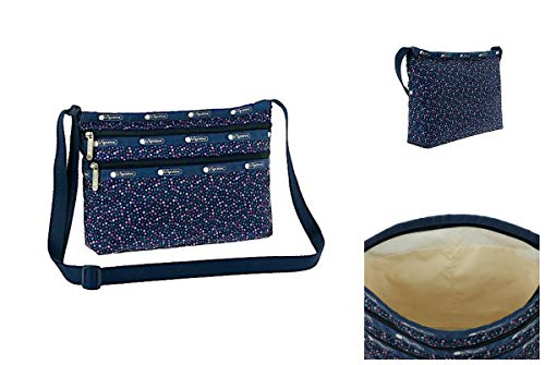 LeSportsac Ditsy Dance Party Quinn Crossbody Handbag, Style 3352/Color E121
