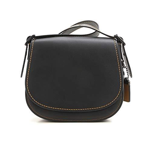 Coach 1941 Glovetanned Leather Saddle Bag 23 Black 55036