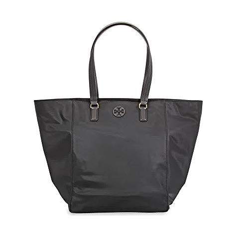 Tory Burch Women's Tilda Black Nylon Tote Handbag