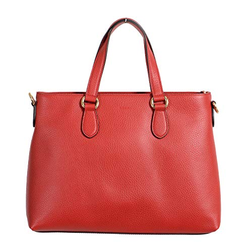Gucci 100% Leather Red Women's Handbag Shoulder Bag