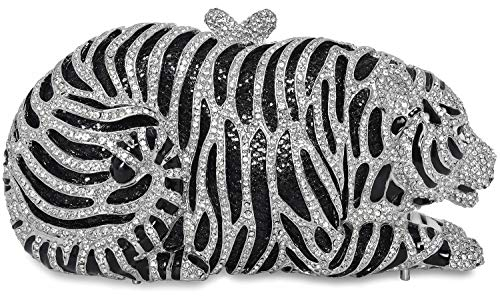 Luxury Crystal Clutches Women Tiger Evening Bag