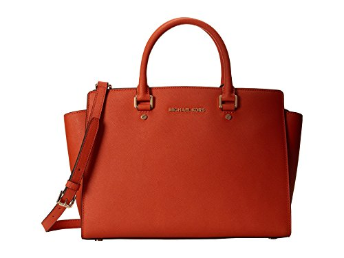 Michael Kors Selma Large East West Satchel Orange
