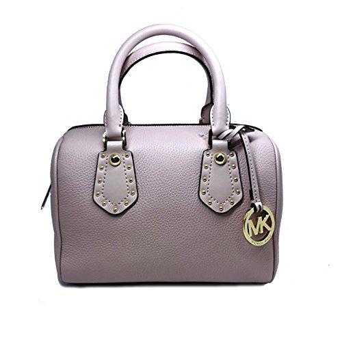MICHAEL Michael Kors Women's ARIA Small Leather Satchel Studded Handbag (Blossom)