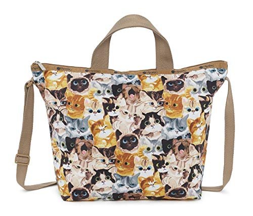 LeSportsac Cat Cafe Bene Easy Carry Tote Crossbody + Top Handle Handbag, Style 2431/Color K812
