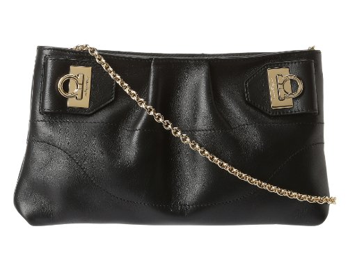 Salvatore Ferragamo W Chain Clutch Clutch Nero One Size