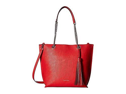 Calvin Klein Women's Unlined Novelty Top Zip Tote Rouge One Size