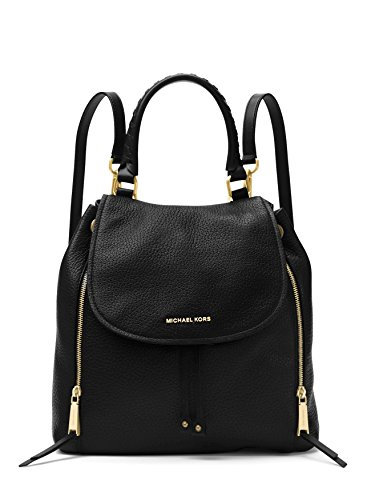 Michael Kors Viv Ladies Large Black Leather Backpack 30F6GVBB3L001