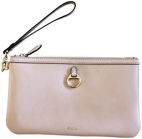 Lauren Ralph Lauren Genuine Soft Leather Allenville Wristlet Clutch Light Pink