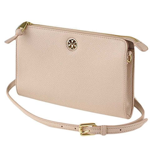 Tory Burch 49123 Brody Pebbled Leather Light Oak Women's Wallet Crossbody