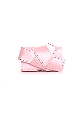 Ted Baker London Hallee Satin Studded Giant Knot Evening Clutch Handbag in Light Pink