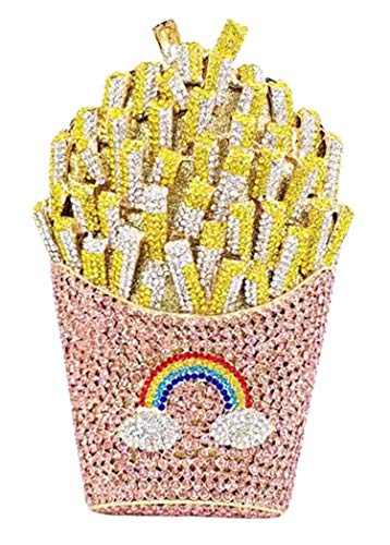 French Fries Rainbow Clutch Bag Evening Handbag Purse
