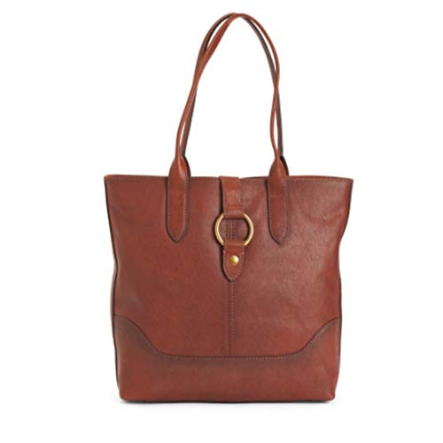 Frye Ring Cognac Leather Tote