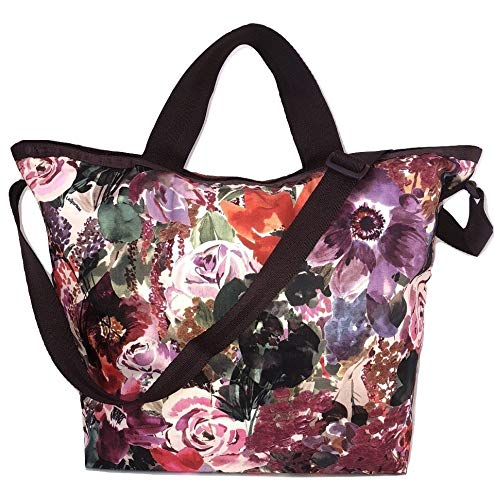LeSportsac Harmony Floral Easy Carry Tote Crossbody + Top Handle Handbag