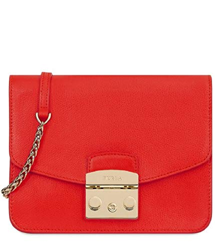 Furla Metropolis Ladies One Size Red Kiss Leather Crossbody Bag 1007217