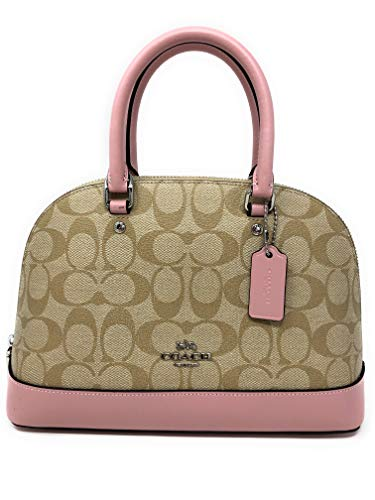 Coach Mini Sierra Satchel Handbag (Mini, SV/KHAKI/CARNATION)