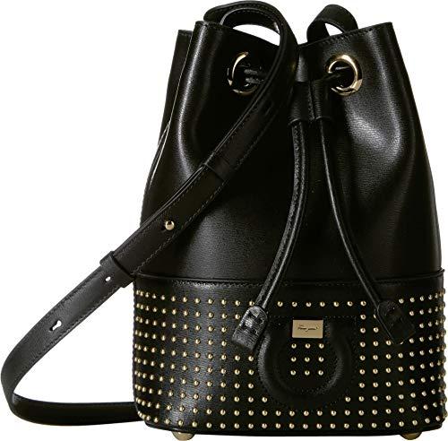 Salvatore Ferragamo Women's City Bucket Crossbody Bag Nero One Size