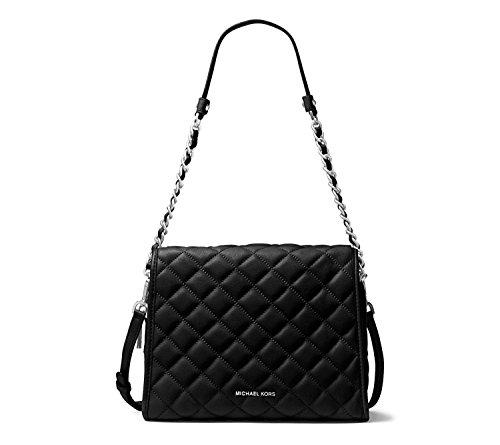 Michael Kors Rachel Medium Quilted Satchel Handbag (Black) – 30T6TR4S2L BLACK