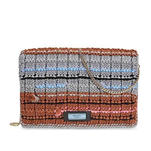 Prada Knit Wool with Fabric Tricot Bag – Grey