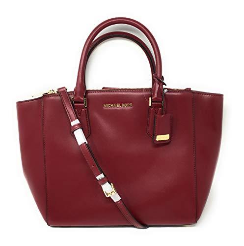 Michael Kors Carolyn Large Tote Soft Leather Handbag Mulberry