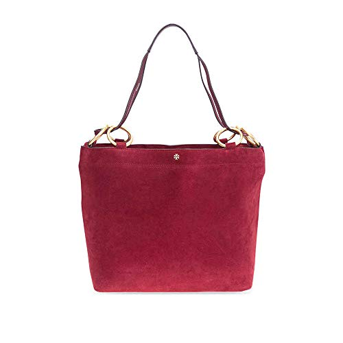 Tory Burch Farrah Suede Tote- Exotic Red