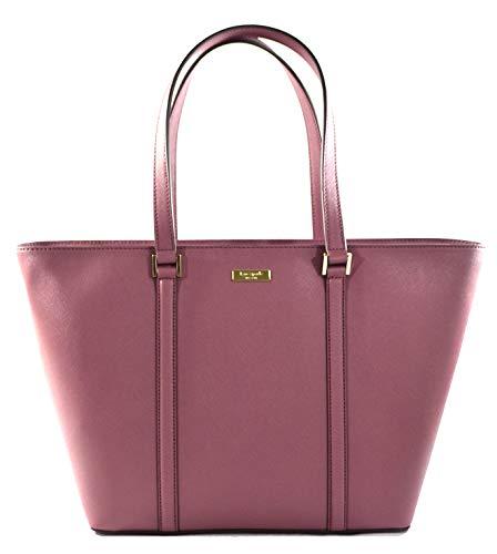 Kate Spade Jules Newbury Lane Saffiano Leather Large Tote Shoulder Bag Purse Handbag, Plum Berry