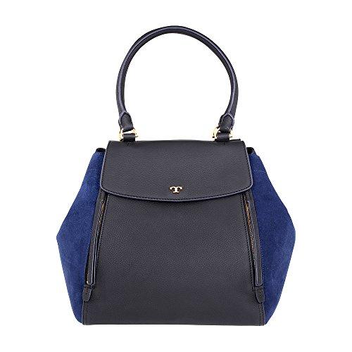 Tory Burch Half-Moon Ladies Small Leather & Suede Tote Handbag 46412018