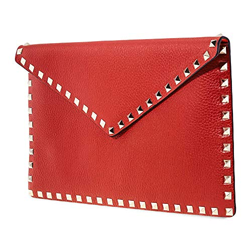 Valentino Leather Clutch- Red