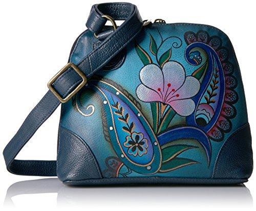 Anna by Anuschka Organizer Handbag | Genuine Leather | Fall Bouquet