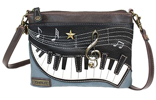 Chala Piano Mini Crossbody Handbag Music Lovers Piano Teachers Convertible Straps