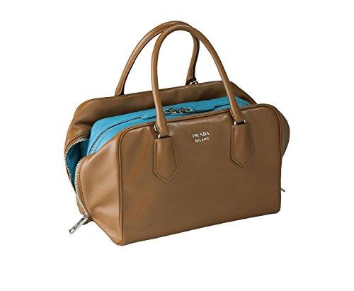 Prada Women's Brown Soft Calf Handbag 1BB009
