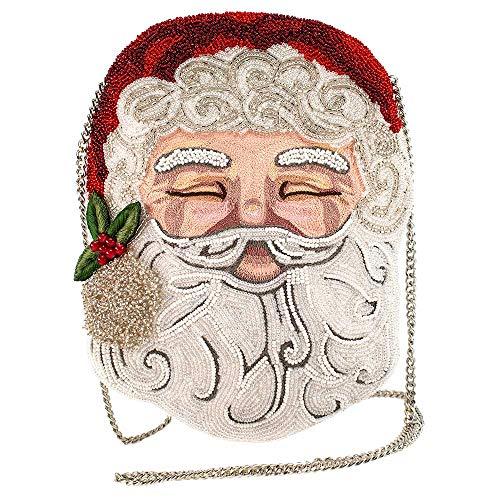 Mary Frances Jolly, Beaded Santa Claus Crossbody Handbag