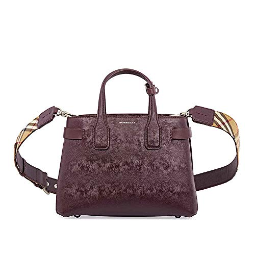 Burberry women The Banner handbags mahogany red