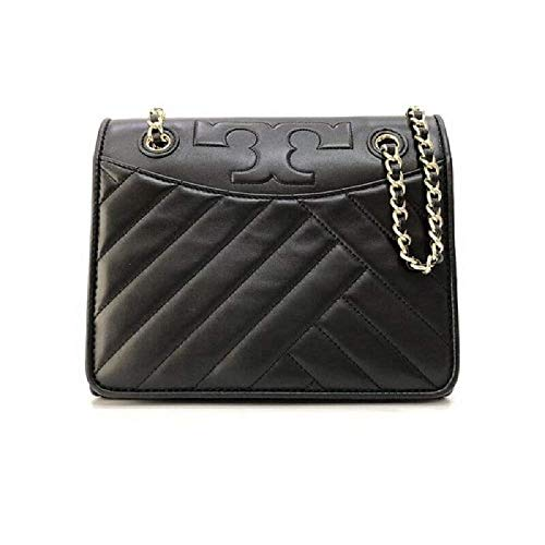 Tory Burch Alexa Convertible 50643 Black Leather Women's Shoulder Bag