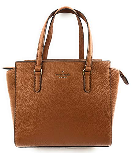 Kate Spade NY Medium Jackson Leather Satchel Purse – Gingerbread Brown