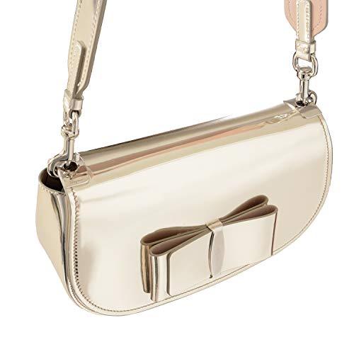 Salvatore Ferragamo 100% Leather Gold Women's Shoulder Bag Clutch