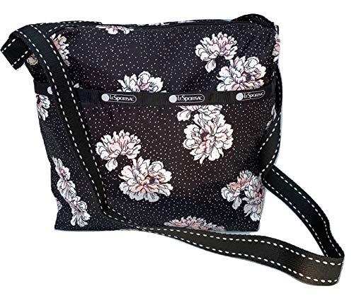 LeSportsac Peony Party Small Cleo Crossbody Handbag, 2 Tone Stitched Strap, Style 7562/Color F083
