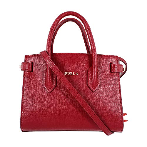 Furla Pin Ladies Mini Red Ciliegia Leather Tote 978750