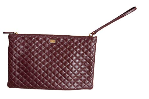 Dolce & Gabbana 100% Leather Brown Women's Clutch Bag
