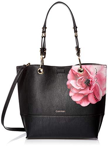 Calvin Klein Sonoma Reversible Novelty North/South Tote Bag, black floral