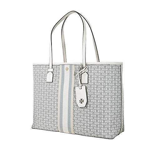 Tory Burch Women's Gemini Link Canvas Tote New Ivory One Size