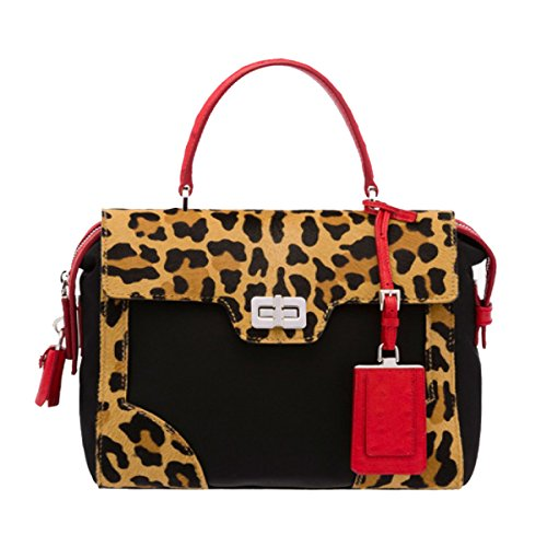 Prada Women's Cavallino Shopping 1ba004 Black Nylon Tote