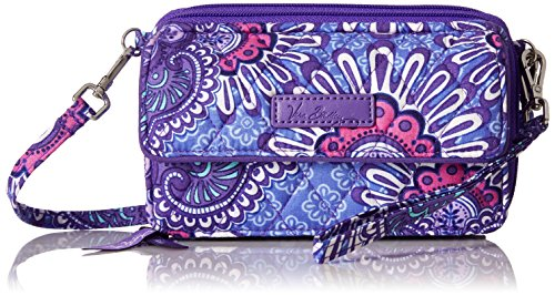 Vera Bradley Womens' All In One Crossbody for Iphone 6+, Lilac Tapestry, One Size