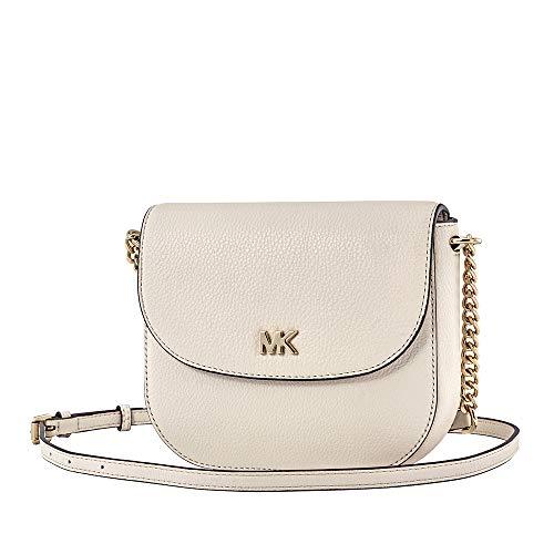 Michael Kors Mott Pebbled Leather Crossbody- LT Cream