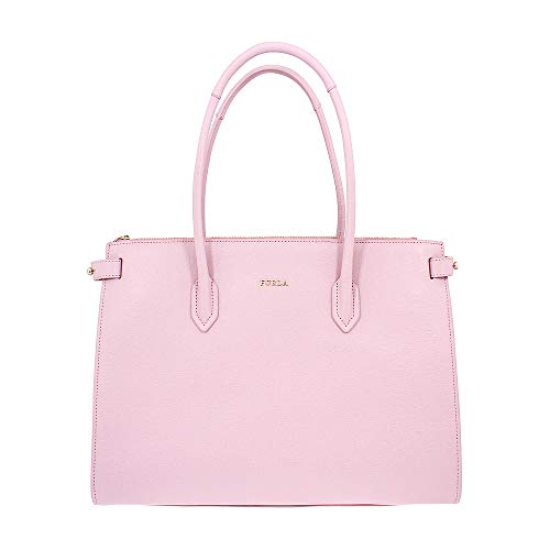 Furla Pin Ladies Medium Pink Camelia Leather Tote 963083
