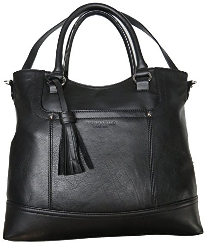 Tignanello Women's Genuine Leather Smooth Operator Shopper, Black