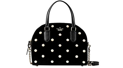 Kate Spade Laurel Way Velvet Reiley Women's Handbag Large Black