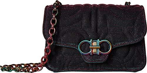 Salvatore Ferragamo Women's Quilting Cangiante Bag, Black/Fuschia, One Size