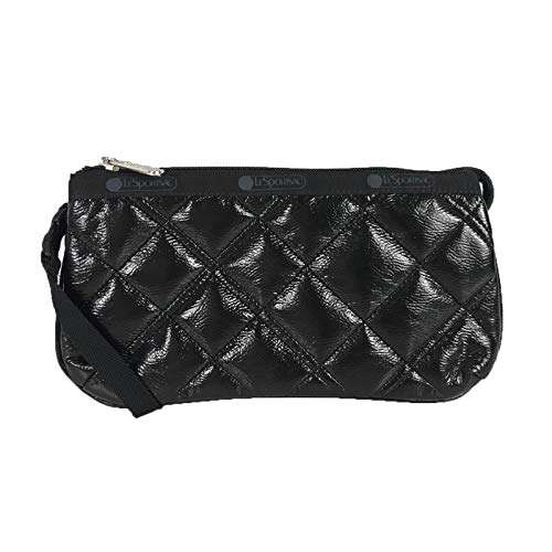 LeSportsac Small Koko Wristlet, Black Crinkle Quilted