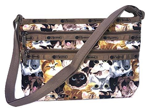 LeSportsac Cat Cafe Bene Quinn Crossbody Handbag, Style 3352/Color K812
